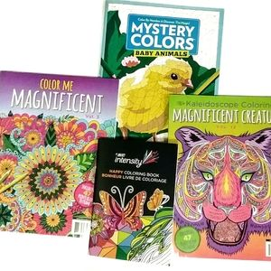 Coloring Book & Color By Number Bundle All New